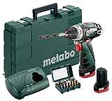 Metabo 600080920 Akku-Bohrschrauber klein PowerMaxx BS Basic Set 10.8V, 2x 2Ah...
